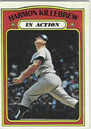 1972 Topps Baseball Cards      052      Harmon Killebrew IA